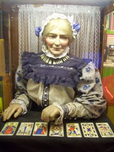 """Fortune telling automaton. For more fortune teller automatons  please see my other board called  """"The Future In The Past""""."""
