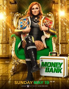 Superstars from both brands fight each other for the chance to win the Money in the Bank briefcase. WWE Money In The Bank Kickoff Movie Watch Best Wrestlers, Wwe Female Wrestlers, Watch Wrestling, Wrestling Wwe, Wrestling Posters, Becky Lynch, Divas Wwe, Wwe Ppv, Wwe Money