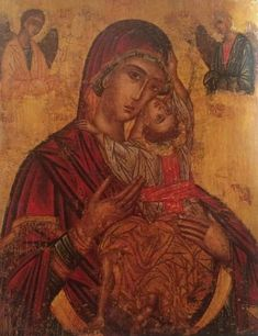 Byzantine Icons, Holy Mary, Religious Art, Virgin Mary, Our Lady, Ikon, Marvel, Painting, Byzantine Art