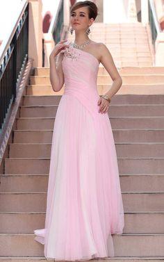 Girls Latest 2015 Pink Evening Dress Designs