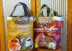 Go Green today! Use this pattern to create a reusable grocery bag from an upcycled feed sack. Snickel 'N' Sniffer Reusable Feed Sack Grocery Bags (DIY) Feed Bag Tote, Feed Sack Bags, Tote Bags, Reusable Shopping Bags, Reusable Bags, Burlap Sacks, Sewing Projects, Sewing Hacks, Sewing Ideas