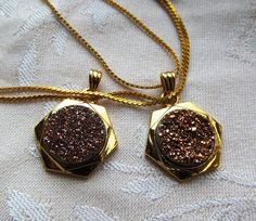 14mm Champagne Drusy Cabochon in Goldplated by SaraJewelryDesign, $37.99