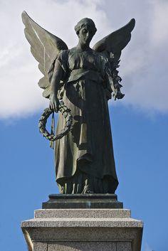 Statue of Peace, World War I remembrance statue, Clacton-on-Sea, Essex