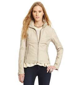 Kenneth Cole Reaction Knit-Side Faux-Leather Jacket | Dillards.com
