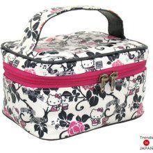 "Hello Kitty Seisuke88 Cosmetic Vanity Pouch Box Makeup Bag""kitty's ..."