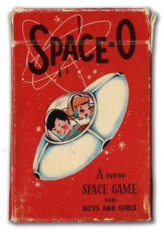 Space-O card game for boys and girls. Arrco Playing Card Co., late 1950s or early 1960s. For details about the game, see http://boardgamegeek.com/boardgame/4274/orbit