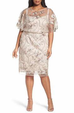 e93e50b88cb Brianna Embellished Blouson Cocktail Dress (Plus Size) Plus Size Cocktail  Dresses
