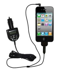adac74c587e 2nd Generation Audio FM Transmitter / Internet Music Adapter plus  integrated Car Charger for the Apple iPhone 4 with Gomadic TipExchange by  Gomadic.