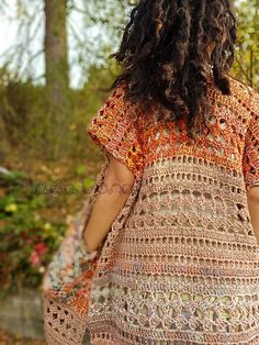 Free written pattern Gypsy Kimino ~ Woodland Cardigan – Crochet Tribe See other ideas and pictures from the category menu…. Faneks healthy and active life ideas Black Crochet Dress, Crochet Coat, Crochet Cardigan Pattern, Crochet Jacket, Crochet Scarves, Crochet Shawl, Crochet Clothes, Crochet Sweaters, Gypsy Crochet