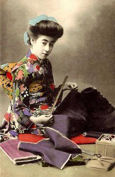 Ca.1908-12 hand-colored collotype print.