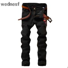 27.56$  Watch here - http://alihdr.shopchina.info/go.php?t=32799426021 - #1953 2017 Slim Plum blossom embroidered jeans mens Fashion Mens black jeans Fake designer clothes Jeans homme Cheap jeans mens  #buymethat