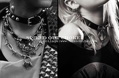 Spiked Out Choker | Fashion Finds > http://www.trendbite.com/2015/07/spiked-out-choker-fashion-finds.html#.Va-A-vl7NOY