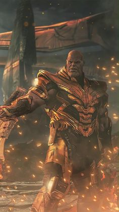Animated Video GIF(DOWNLOAD) Phone Wallpaper Thanos