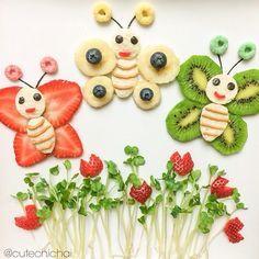 Fruit recipes for kids snacks Ideas L'art Du Fruit, Deco Fruit, Fruit Recipes, Baby Food Recipes, Party Recipes, Party Snacks, Kid Snacks, Healthy Recipes, Lunch Snacks