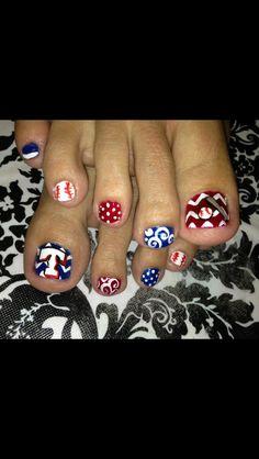 Baseball Toe nails:)