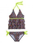 Multi-color Flower Tankini Swimsuit