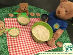 Picnic Activities, Fairy Tale Activities, Eyfs Activities, Nursery Activities, Preschool Activities, Tuff Tray Ideas Toddlers, Bears Preschool, Traditional Tales, Traditional Stories