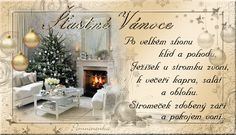 Vánoční přání - Obrázková přání Christmas Diy, Merry Christmas, Foto Gif, Happy Birthday Wallpaper, Vintage Christmas Images, Champagne, Blog, Advent, Home Decor