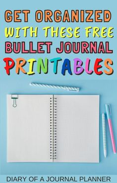 Make 2021 your most organized year ever with these 15 free bullet journal printables! #printables #bulletjournalprintables #organize #planneraddict Bullet Journal Bookshelf, Bullet Journal Dot Grid, Bullet Journal Hacks, Bullet Journal Printables, Journal Template, Bullet Journal Spread, Bullet Journals, Planner Organization, Bullet Journal Inspiration