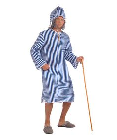 Take a look at this Blue Stripe Scrooge Nightshirt Dress-Up Set - Men by Forum Novelties on #zulily today!