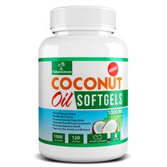 Amazon.com: Coconut Oil Capsules Pure Extra Virgin Organic Pills FREE Coconut Recipe Book- Weight Loss Diet Pills Benefits - Best for Healthy Heart - Dry Skin - Hair Care - Detox - Natural Energy Source Product - MCT Oil Pill 1000 Mg - Made in USA(120 Softgels): Health & Personal Care