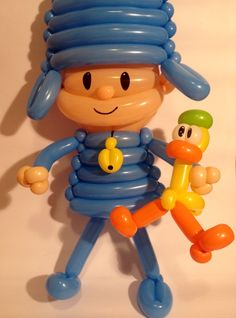Pocoyo -  Balloon Twisting Ideas Para Fiestas, Baby Party, 2nd Birthday Parties, Balloon Decorations, Holidays And Events, Oakley, Balloons, Birthdays, Baby Shower