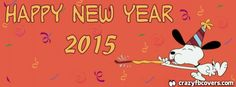 Snoopy Happy New Year 2015 Facebook Cover - Facebook Timeline Cover Photo - Fb Cover