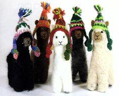 alpaca hand made felted ornament