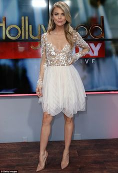 90210's AnnaLynne McCord dazzles at Hollywood Today Live in a fairy-inspired white dress | Daily Mail Online