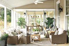 Outdoor furniture with deep cushions make lounge-worthy spots | Ballard Designs