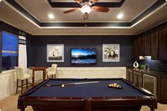 My ideal basement: pool table and bar... dreaming!