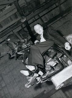 Orson Welles on the set of Citizen Kane (1941)