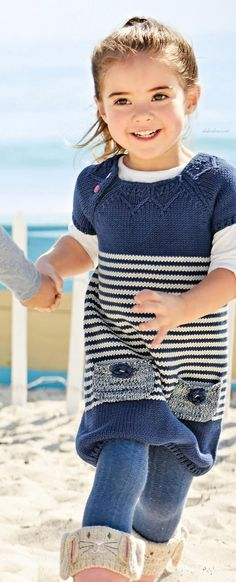 Buy Stripe Jumper Dress from the Next UK online shop Jumper Dress, Knit Dress, Knitting For Kids, Baby Knitting, Girl Outfits, Fashion Outfits, Girls Casual Dresses, Lany, Baby Dress