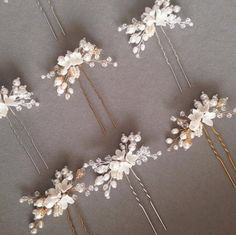 The Mignon pearl bridal hair pin is small but mighty. True to its name, the Mignon is petite, dainty and oh-so-pretty.