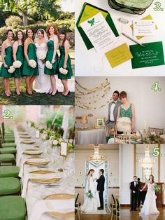 #Emerald #wedding #inspiration Editors Choice on Marry Me Metro, a city wedding ideas blog http://marrymemetro.com
