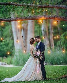 Midsummer Night s Dream Wedding - Whimsical wedding backdrop with bistro lights Christina Carroll Photography Wedding Goals, Wedding Pics, Wedding Themes, Wedding Planning, Wedding Decorations, Wedding Colors, Wedding Album, Wedding Stills, Backdrop Wedding