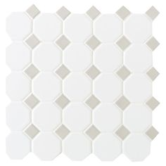 American Olean Sausalito White/Gray Honeycomb Mosaic Ceramic Floor and Wall Tile (Common: 12-in x 12-in; Actual: 12-in x 12-in)