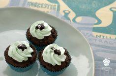 choco mint mini cupcakes