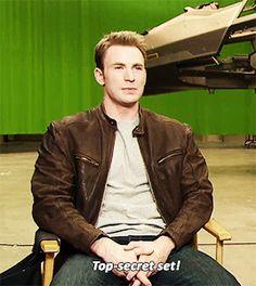 Chris Evans Talks 'Captain America: Civil War' During Top-Secret Set Visit