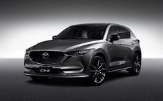 Mazda CX-5, 2017, crossover, silver CX-5, new cars, Japanese cars