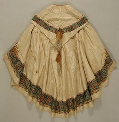 Evening cape, 1856-60, silk (At first I thought it was a skirt)