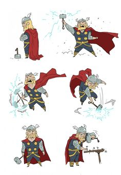 'Little Thor' by Rawls. ★ || CHARACTER DESIGN REFERENCES™ (https://www.facebook.com/CharacterDesignReferences & https://www.pinterest.com/characterdesigh) • Love Character Design? Join the #CDChallenge (link→ https://www.facebook.com/groups/CharacterDesignChallenge) Share your unique vision of a theme, promote your art in a community of over 50.000 artists! || ★