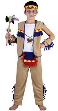 Kızılderili Çocuk Kostümü, Süperlüks 4-6 Y