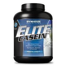Elite Casein Dymatize é um suplemento à base de caseína, proteína de digestão lenta. Fornece 24 gramas de proteína por dose, incluindo 10g de BCAAs, glutamina e precursores. Além disso, Elite Casein Dymatize fornece 50% da RDA (Recomendação do Consumo Alimentar) de cálcio.