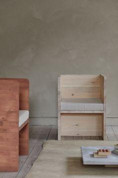 Frama, l'Atelier | MilK decoration Inspiration Design, Decoration, Stool, Shelves, Milk, House, Furniture, Grey, Home Decor