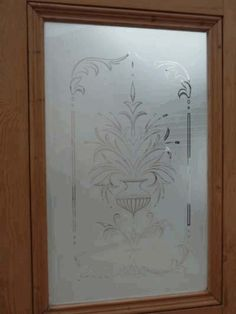 etched glass Glass Etching Designs, Etched Glass, Entrance Doors, Bathroom Ideas, Stained Glass, Branding, House Design, Windows, Spaces