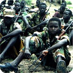 -The number of child soldiers- There are about 250,000 child soldiers in the world and 40% of them are girls.
