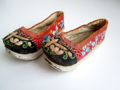 Antique Scandinavian Child's Shoes by CityGirlAntiques on Etsy, $70.00