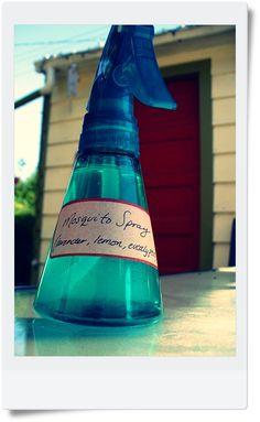Homemade mosquito spray