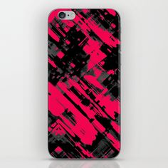 SOLD iPhone 6 Skin Hot pink and black digital art G75 https://society6.com/product/informel-art-abstract-g75_phone-skin#s6-1033022p13a3v380 #Society6 #skin #iPhone6 #cases #painting #grunge #brushstrokes #abstract #black #pink